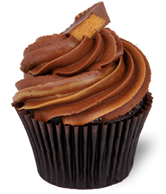 Peanut Butter Cup; Sweet Carolina Cupcakes - Hilton Head Island's best cupcake bakery; 29928