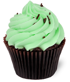 AFTER DINNER MINT Cupcake; Sweet Carolina Cupcakes; Hilton Head Island, SC 29928