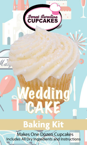 Wedding Cake Cupcake Baking Kit from Sweet Carolina Cupcakes; Hilton Head Island, SC; 29928