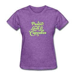 Peace love and cupcakes t-shirt; Sweet Carolina Cupcakes; Hilton Head Island, SC 29928