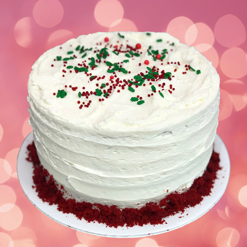 Sweet Carolina Cupcakes' Holiday Red Velvet Layer Cake is available for pre-order and local delivery - Hilton Head Island, SC 29928